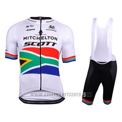 2018 Cycling Jersey Mitchelton Scott Campione South Africa Short Sleeve and Bib Short