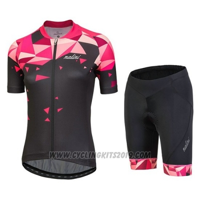 2018 Cycling Jersey Women Nalini Chic Red Short Sleeve and Bib Short