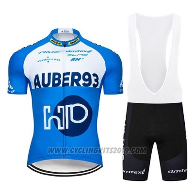 2019 Cycling Jersey Aqber93 Blue White Short Sleeve and Bib Short