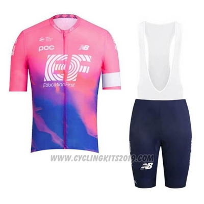 2019 Cycling Jersey Ef Education First Pink Short Sleeve and Bib Short