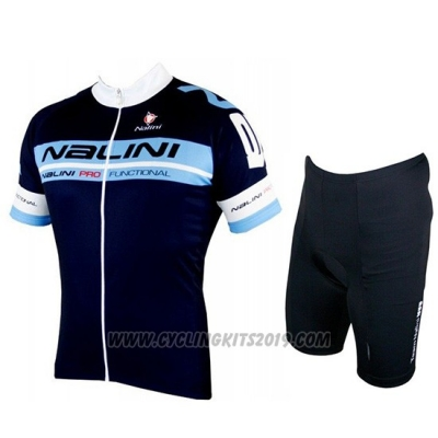 2019 Cycling Jersey Nalini Black Blue Short Sleeve and Bib Short