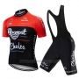 2019 Cycling Jersey Roompot Charles Red Black Short Sleeve and Bib Short