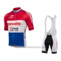 2019 Cycling Jersey Sptgrvo Red White Blue Short Sleeve and Bib Short