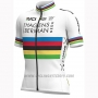 2019 Cycling Jersey UCI World Champion Androni Giocattoli White Short Sleeve and Bib Short