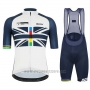 2019 Cycling Jersey USA White Dark Blue Short Sleeve and Bib Short