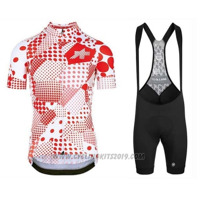 2020 Cycling Jersey Assos Erlkoenig Red White Short Sleeve and Bib Short