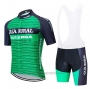 2020 Cycling Jersey Caja Rural Green Black Short Sleeve and Bib Short