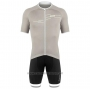 2020 Cycling Jersey DE Marchi Light Gray Short Sleeve and Bib Short