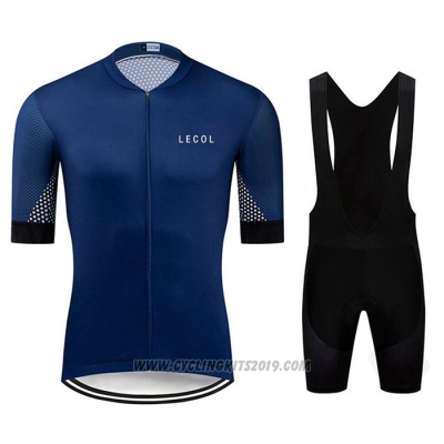 2020 Cycling Jersey Le Col Dark Blue Short Sleeve and Bib Short