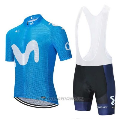 2020 Cycling Jersey Movistar Blue Short Sleeve and Bib Short