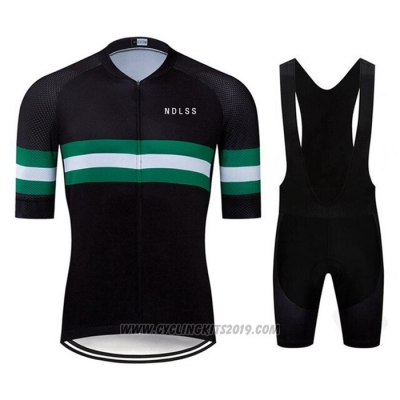 2020 Cycling Jersey Ndlss Black Green Short Sleeve and Bib Short