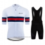 2020 Cycling Jersey Ndlss White Short Sleeve and Bib Short