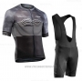 2020 Cycling Jersey Northwave Gray Black Short Sleeve and Bib Short