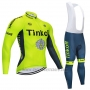 2020 Cycling Jersey Tinkoff Yellow Long Sleeve and Bib Tight