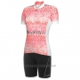 2020 Cycling Jersey Women RH+ Pink Short Sleeve and Bib Short