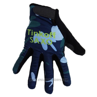 2020 Tinkoff Saxo Full Finger Gloves Camouflage