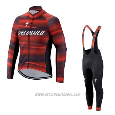 2021 Cycling Jersey Specialized Red Long Sleeve and Bib Tight