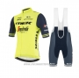 2021 Cycling Jersey Trek Segafredo Yellow Deep Blue Short Sleeve and Bib Short