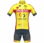 2021 Cycling Jersey Wallonie Bruxelles Yellow Short Sleeve and Bib Short