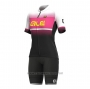 2021 Cycling Jersey Women ALE Pink Short Sleeve and Bib Short