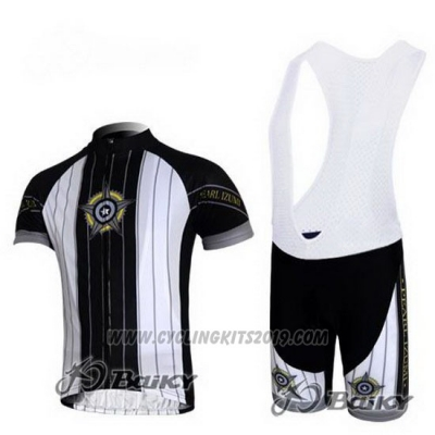 2010 Cycling Jersey Pearl Izumi Black and White Short Sleeve and Bib Short