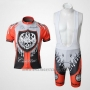 2010 Cycling Jersey Rock Racing Red and Light Blue Short Sleeve and Bib Short