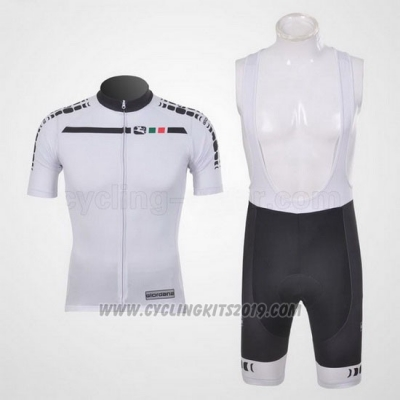 2011 Cycling Jersey Giordana White Short Sleeve and Bib Short