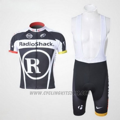 2011 Cycling Jersey Radioshack Black and White Short Sleeve and Bib Short