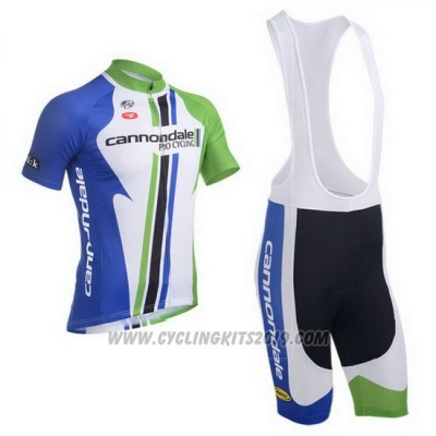 2013 Cycling Jersey Cannondale Campione Blue Short Sleeve and Bib Short
