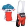 2014 Cycling Jersey BMC Campione Italy Blue and Orange Short Sleeve and Bib Short