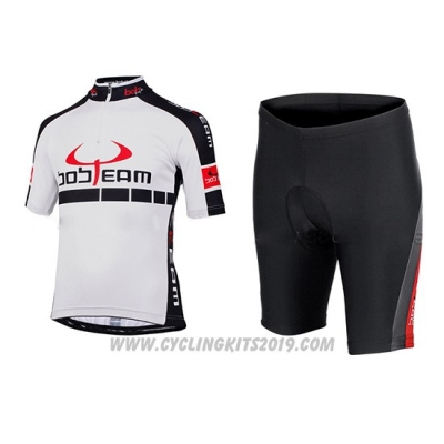 2015 Cycling Jersey Bobteam White Short Sleeve and Bib Short
