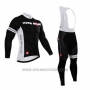 2015 Cycling Jersey Castelli Deep Black Long Sleeve and Bib Tight