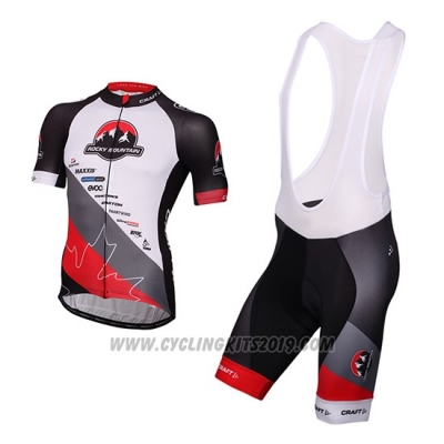 2016 Cycling Jersey Craft Rocky Mountain White and Black Short Sleeve and Bib Short