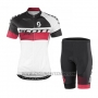 2016 Cycling Jersey Scott Black and White Short Sleeve and Salopette