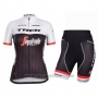 2016 Cycling Jersey Women Trek Black and Red Short Sleeve and Bib Short
