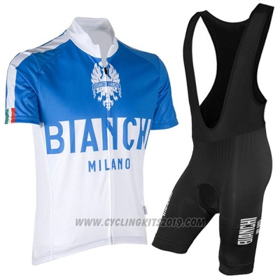 2017 Cycling Jersey Bianchi Milano Blue Short Sleeve and Bib Short