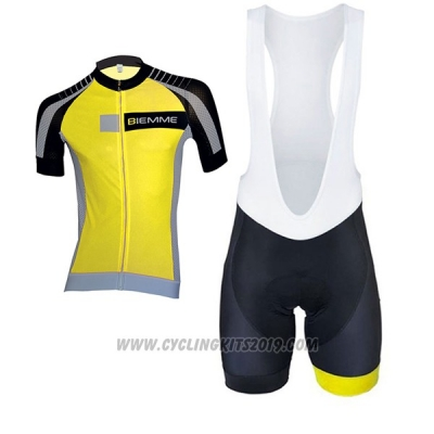 2017 Cycling Jersey Biemme Moody Yellow Short Sleeve and Bib Short