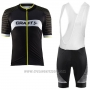 2017 Cycling Jersey Craft Black Short Sleeve and Bib Short
