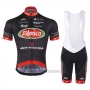 2017 Cycling Jersey D'amico Bottecchia Black Short Sleeve and Bib Short