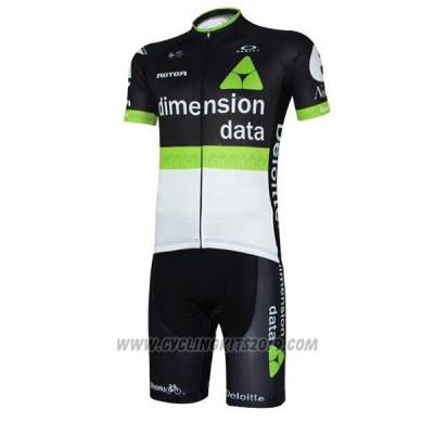 2017 Cycling Jersey Dimension Data White and Black Short Sleeve and Bib Short