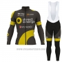 2017 Cycling Jersey Direct Energie Ml Vede Militare Long Sleeve and Bib Tight