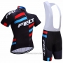 2017 Cycling Jersey Felt Black Short Sleeve and Bib Short