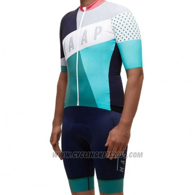 2017 Cycling Jersey Maap Gray and Sky Blue Short Sleeve and Bib Short