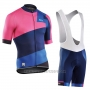 2017 Cycling Jersey Northwave Extreme Red and Blue Short Sleeve and Bib Short
