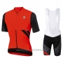 2017 Cycling Jersey Sportful R&d Ultraskin Red Short Sleeve and Bib Short
