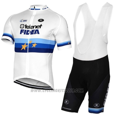 2017 Cycling Jersey Telenet Fidea Lions Campione Europa Short Sleeve and Bib Short