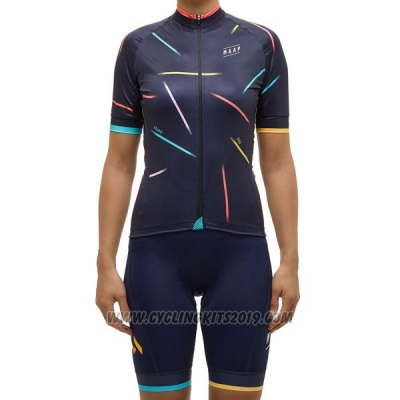 2017 Cycling Jersey Women Maap X Ella Black Short Sleeve and Bib Short