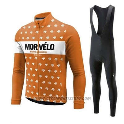 2018 Cycling Jersey Morvelo Orange Short Sleeve and Bib Short