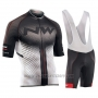 2018 Cycling Jersey Northwave Black and White Short Sleeve and Bib Short