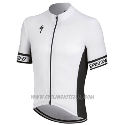 2018 Cycling Jersey Specialized White Black Short Sleeve and Bib Short